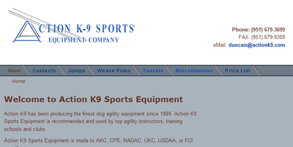 Action K9 Sports Equipment Company