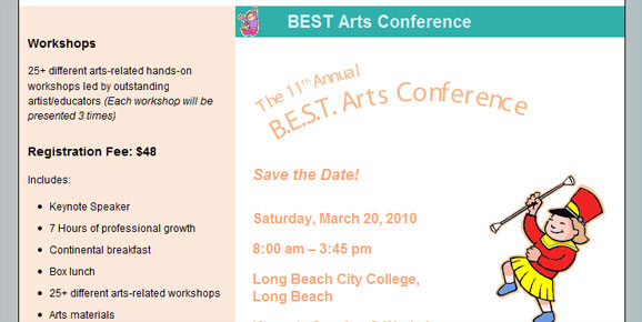BEST Arts Conference, 2010